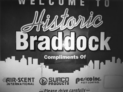 1980s welcome to historic braddock signage and a lightbulb 2009 399 xxx q85